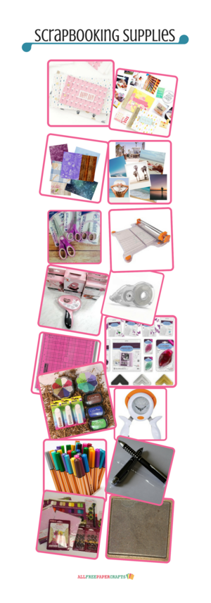 Supplies for Scrapbooking