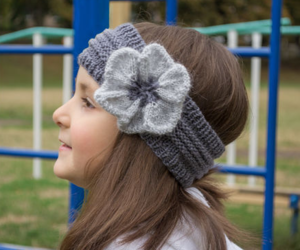 Flower Power Knitted Headband