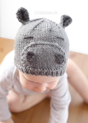 99bcd319322 Happy Hippo Hat. Happy Hippo Hat · Basic Newborn Knit Hat