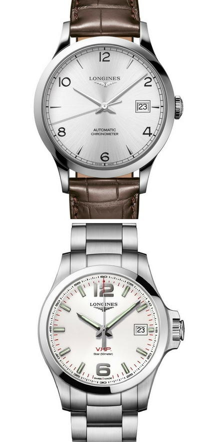 Longines Record Chronometer Certified and the Longines Conquest V.H.P.