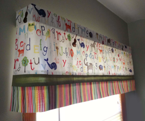 Upcycled Crib Sheets DIY Curtains