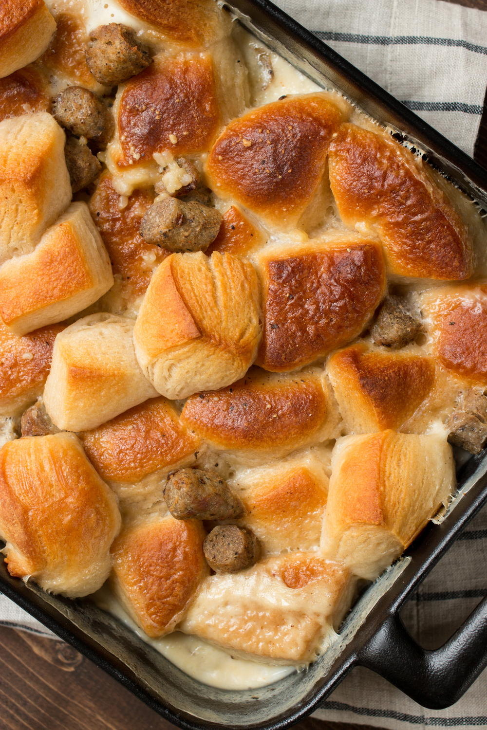 Grandma's Biscuits and Gravy Casserole