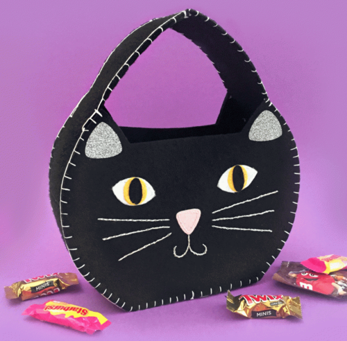 Black Cat DIY Halloween Bag