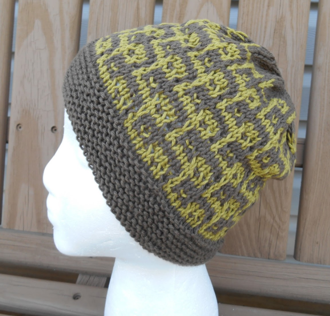 Knitting Pattern Hat Man : Pac-Man Knit Hat Pattern AllFreeKnitting.com