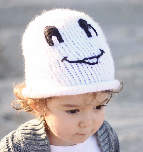 Friendly Ghost Toddler Hat Pattern