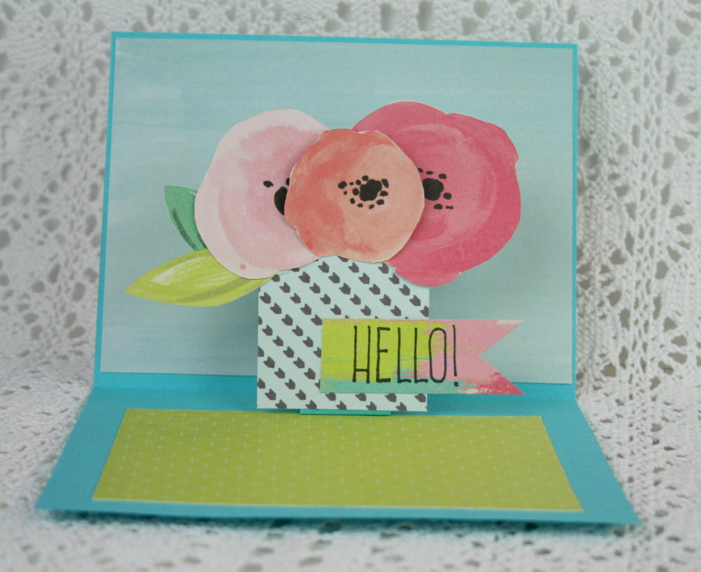 Happy birthday butterfly card allfreepapercrafts com - How To Make A Pop Up Card