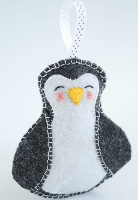 Peppy Penguin DIY Ornament