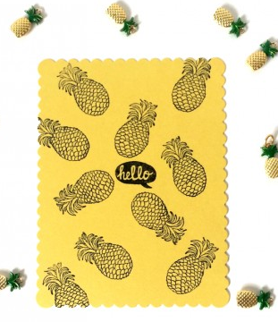 Pineapple Stamp DIY Stationery