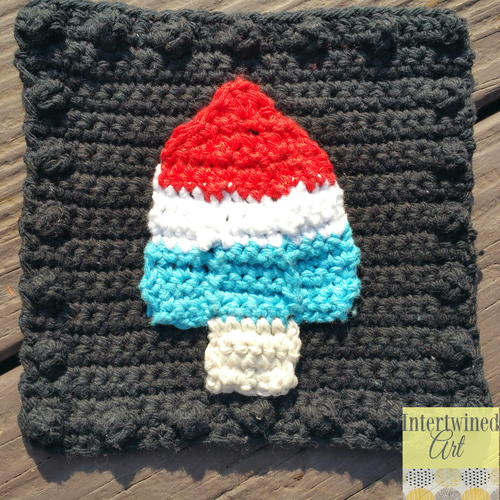 Bomb Pop Applique Blanket Square