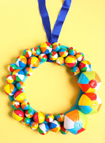Mini Beach Ball DIY Wreath