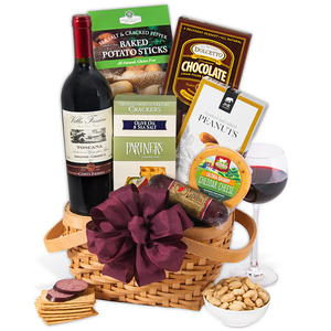 Gourmet Gift Basket Classic Red Wine Gift Basket