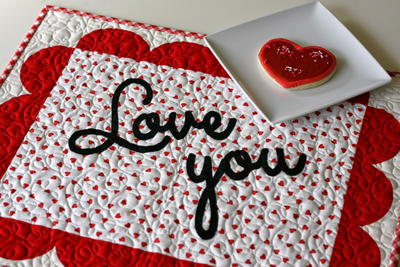 Love You Valentine's Day Placemat