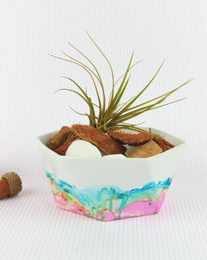 Watercolor Marble Ceramic Bowl
