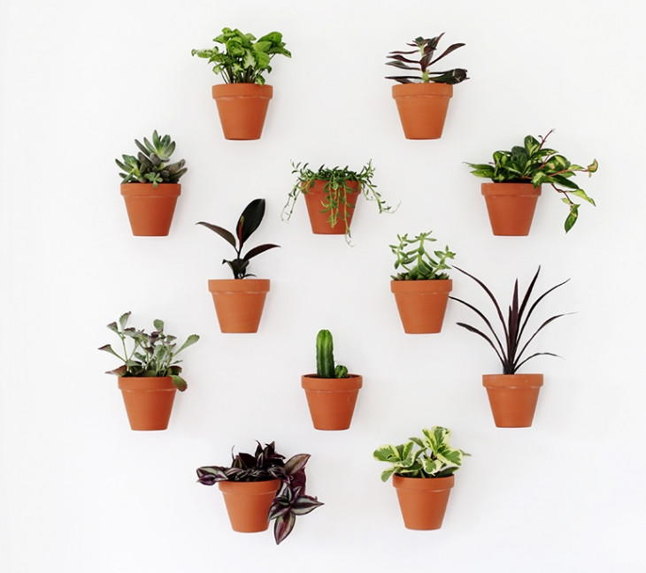 Terracotta Pots Diy Planter Wall Diyideacenter Com