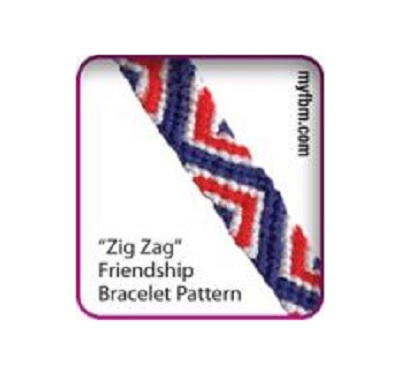 Zig Zag Friendship Bracelet Pattern