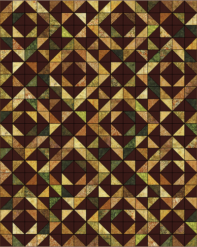 Falling Leaves Fall Quilt Pattern by Cozy Quilt Designs