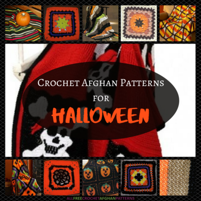 18 Free Crochet Afghan Patterns for Halloween