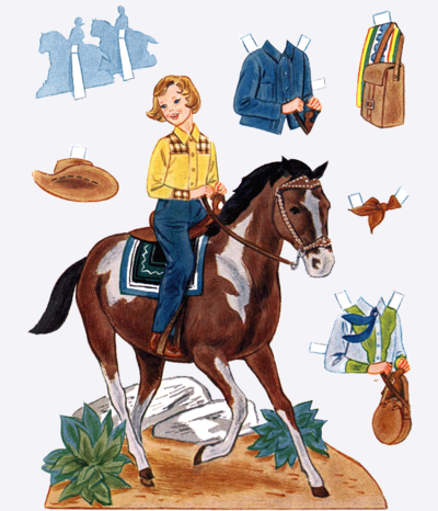 Western Cowgirl Paper Doll