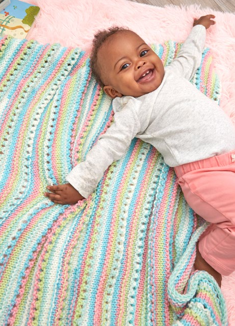 Rock Candy Knit Blanket Pattern