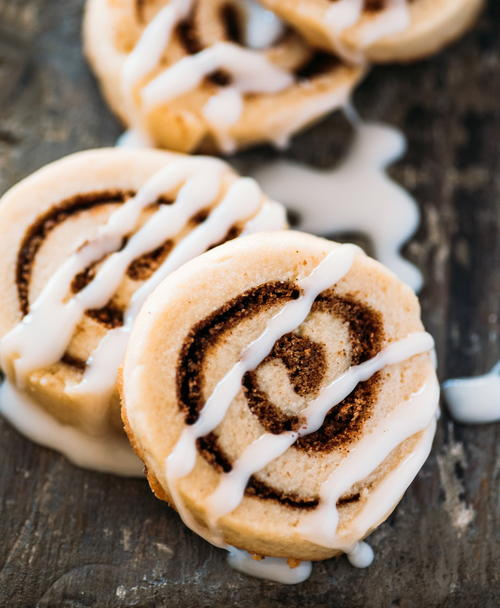 Bite-Size Cinnamon Roll Cookies