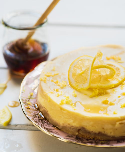 Lemon-Honey Cheesecake
