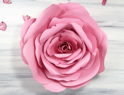 Giant Dramatic Paper Rose