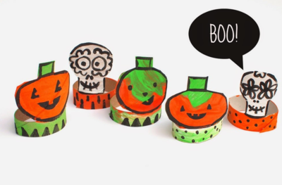 Toilet Paper Roll Halloween Decorations