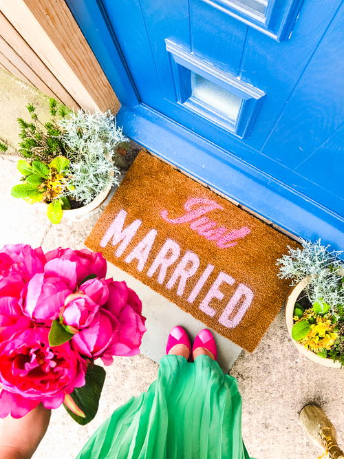 Precious Just Married Door Mat
