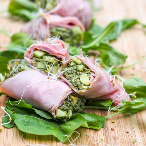Low Carb Ham Roll Ups