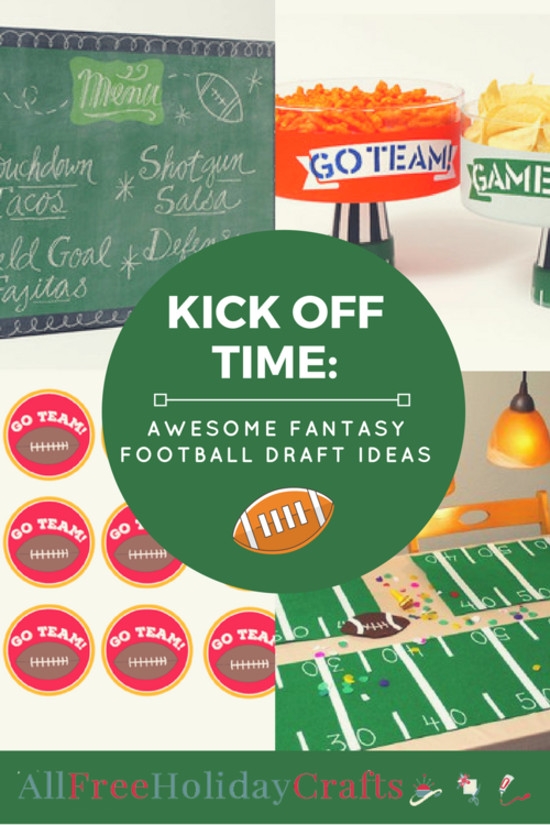Kick-off Time Fantasy Football Draft Party Ideas