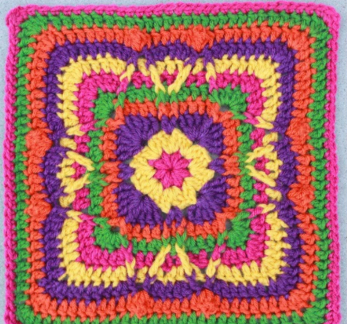 Festival of Fall Granny Square Pattern