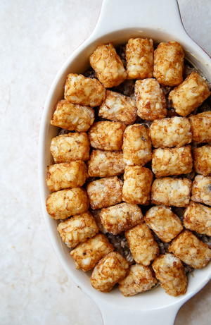 Cozy Tater Tot Casserole for Two