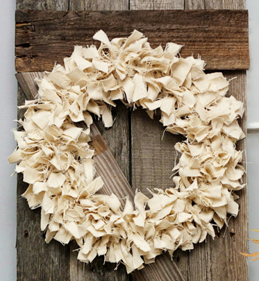 Elegant Handmade Fabric Wreath