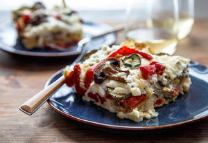 Roasted Vegetable Lasagna for Two