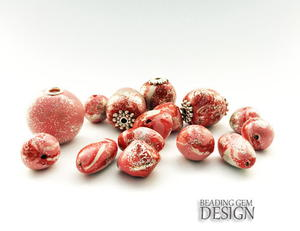 No Bake Resin Clay Candy Swirl Beads
