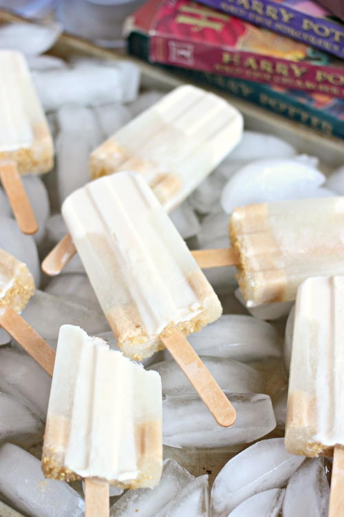 Frozen Butterbeer Popsicles