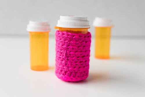 Extra Large Hot Pink Pill Bottle Cozy