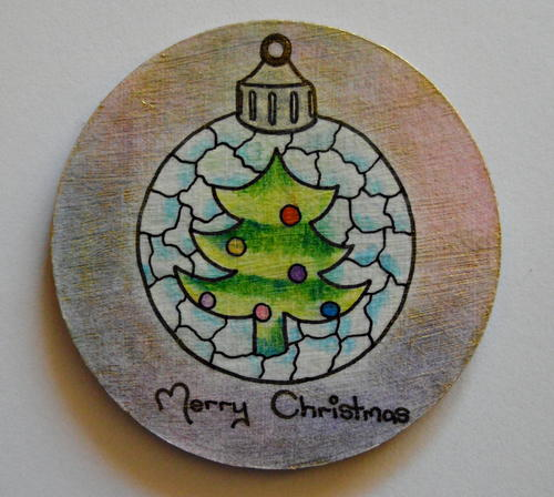 Adult Coloring Turned Christmas Coasters