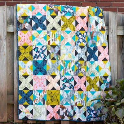Grandmother's Trellis Lap Quilt Pattern
