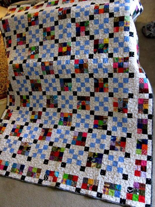 scrap happy nine patch quilt pattern