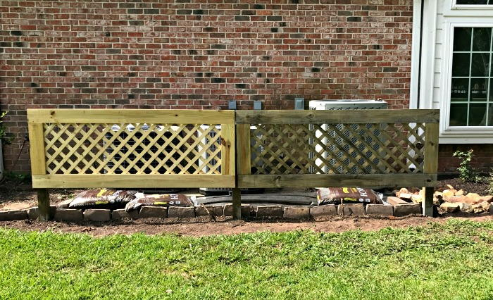 How To Build A Removable Trellis Screen To Hide Your Air