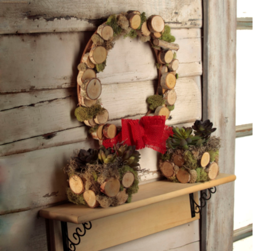 Natural Woodland Holiday Wreath