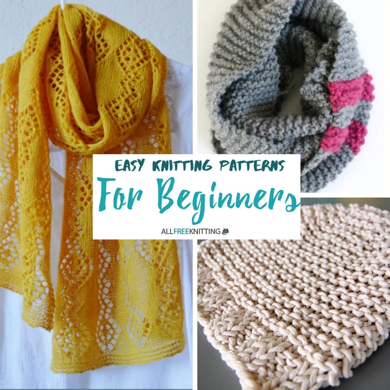 Beginner Knitting Patterns : Easy Knitting Patterns for Beginners AllFreeKnitting.com