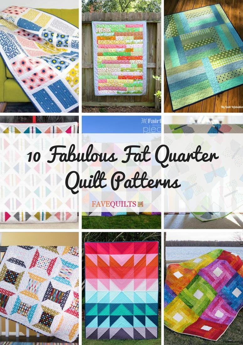 10 Fabulous Fat Quarter Quilt Patterns Favequilts Com