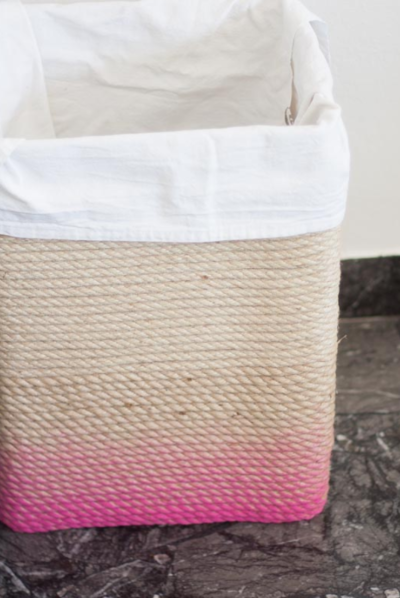 Cute Ombre DIY Hamper