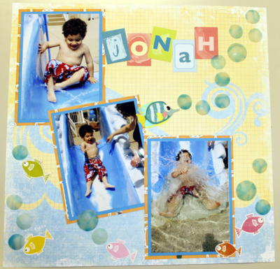 Splish Splash Scrapbook Page Idea