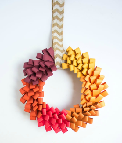 Autumn Paper Loop DIY Wreath