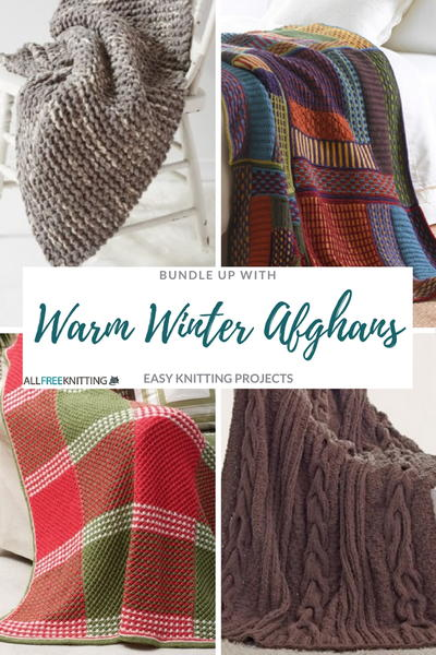 Warm Winter Afghans Easy Knitting Projects