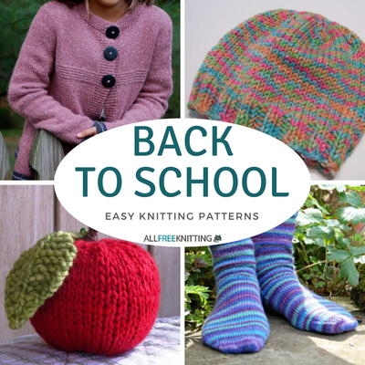 Back to School Easy Knitting Patterns