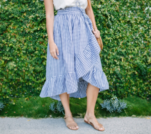 Ruffled Hem DIY Wrap Skirt